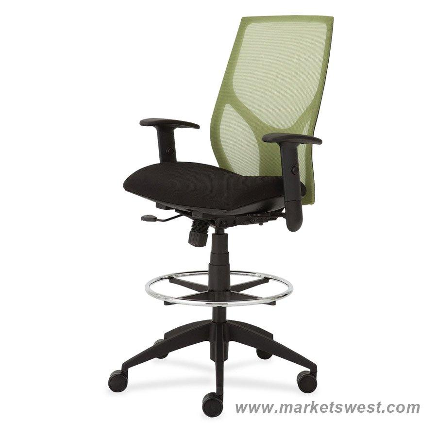 vault mesh back ergonomic low drawing/drafting stool
