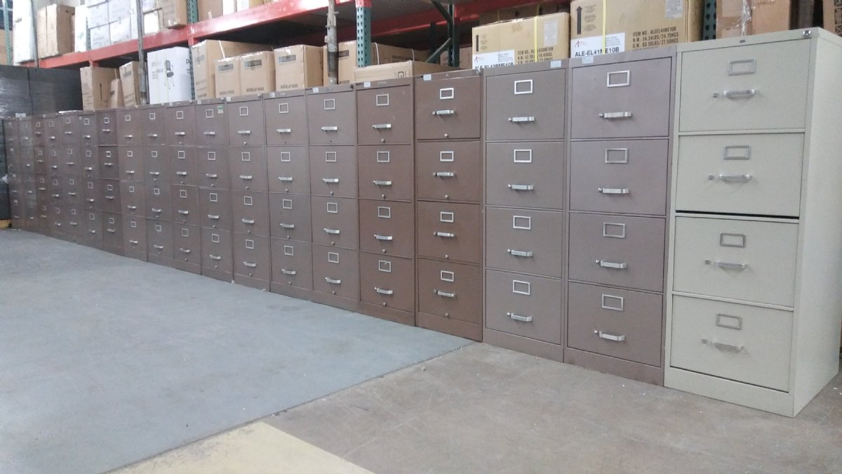 4 Drawer Hon And Devon Vertical Legal Size File Cabinets Used