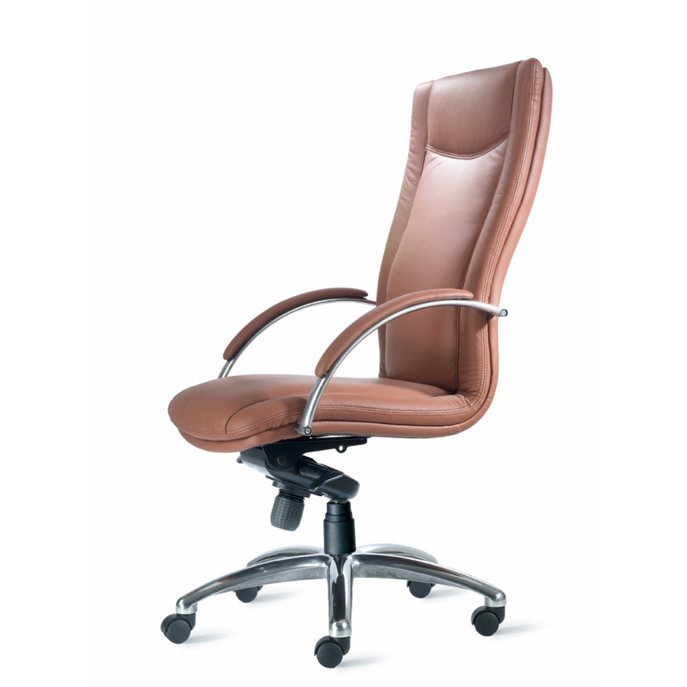 Brown conference chairs - Cayman High Back Leather Fabric Conference Executive Chair