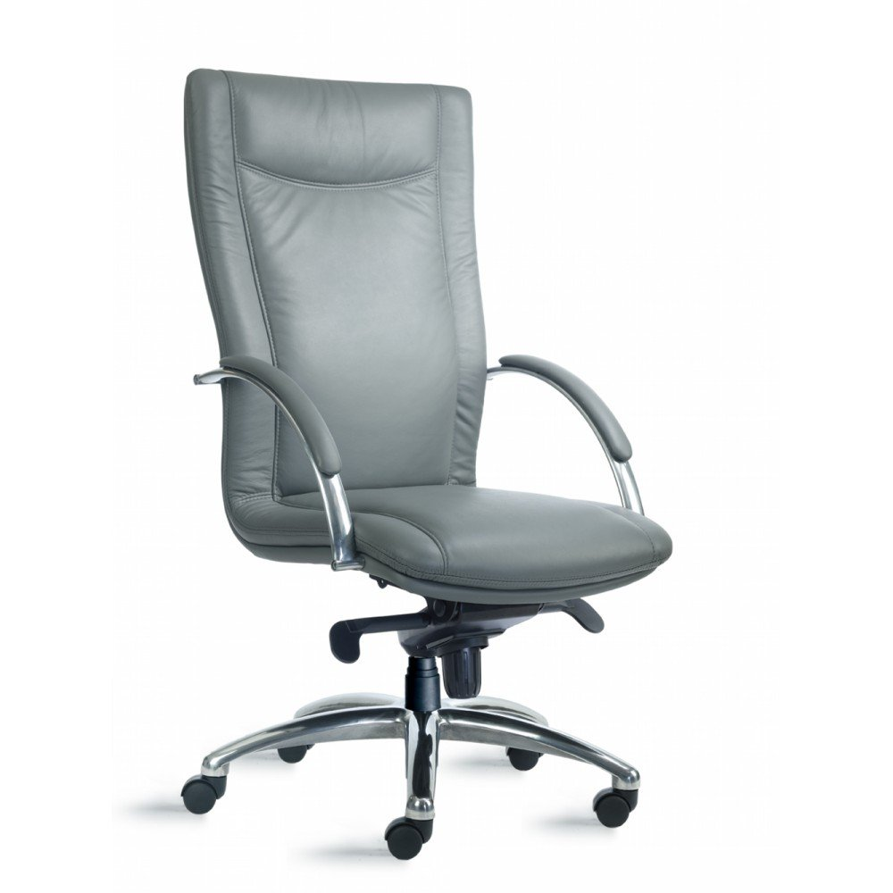 Cayman High Back Leather Fabric Conference Executive Chair