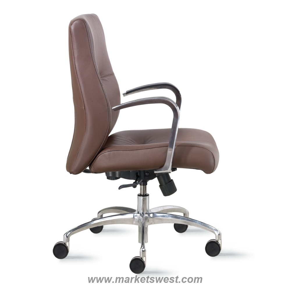 mid-back conference or executive leather or fabric office chair