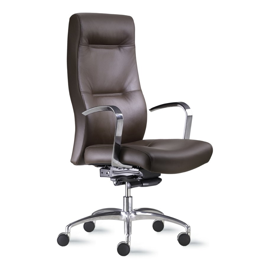 Office chair back view - Cortina High Back Conference Or Executive Leather Or Fabric Office Chair