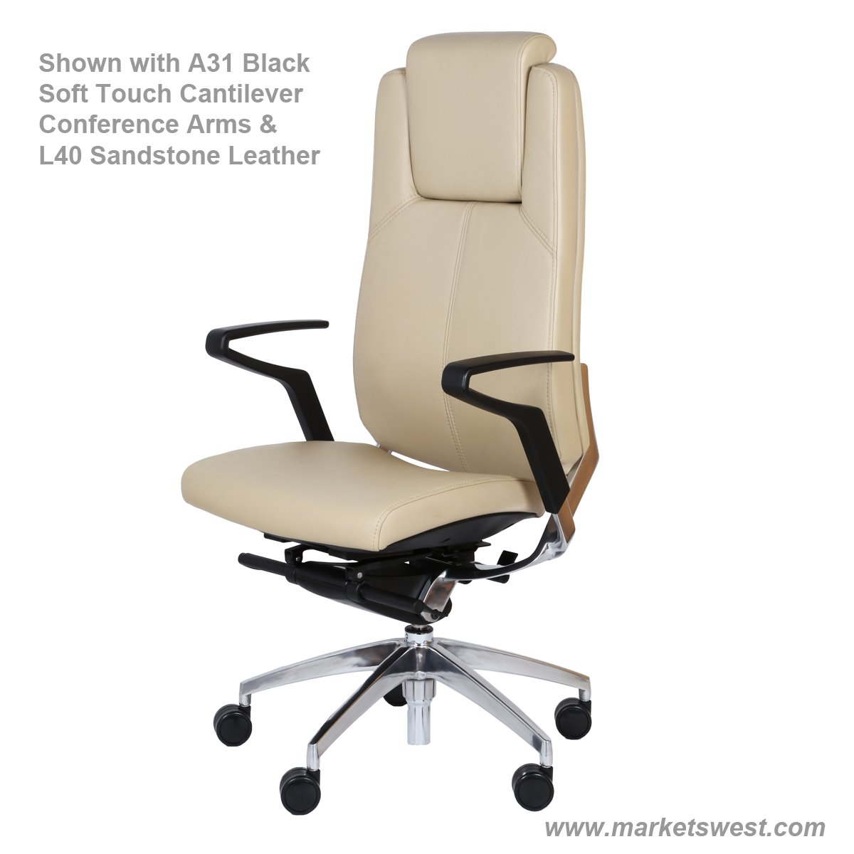Cosmo high back conference or executive leather chair for High back leather chairs
