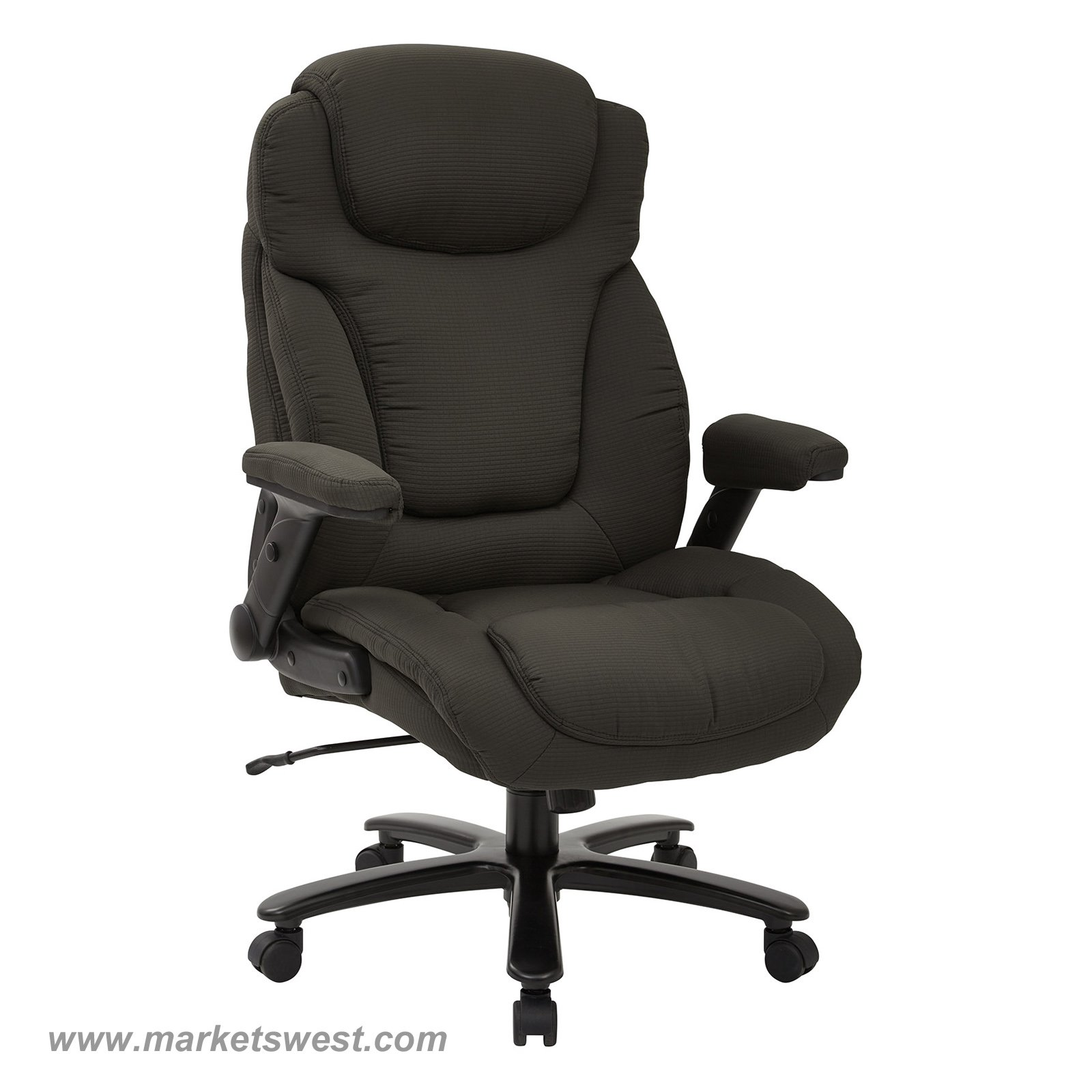 Big & Tall High Back Charcoal Fabric Executive Chair with Padded