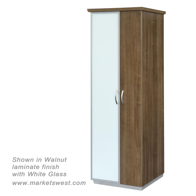 pimlico walnut laminate left hand facing bookcase wardrobe