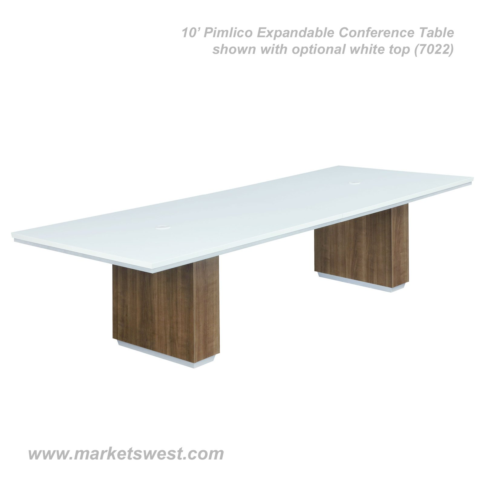Pimlico Walnut Laminate Rectangular EXPANDABLE Conference Table - 120 conference table