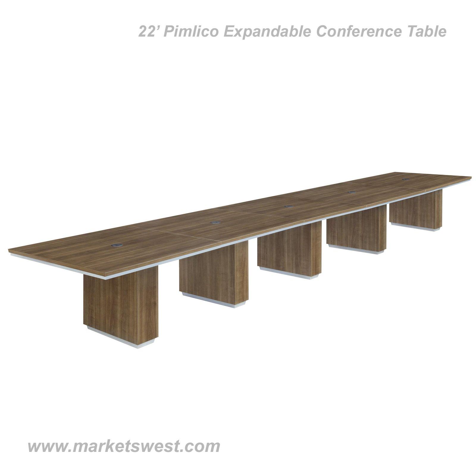 Pimlico Walnut Laminate Rectangular EXPANDABLE Conference Table - Expandable conference room table