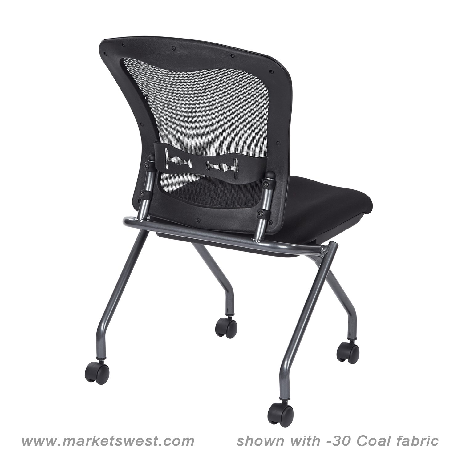 deluxe folding chair with progrid back no arms