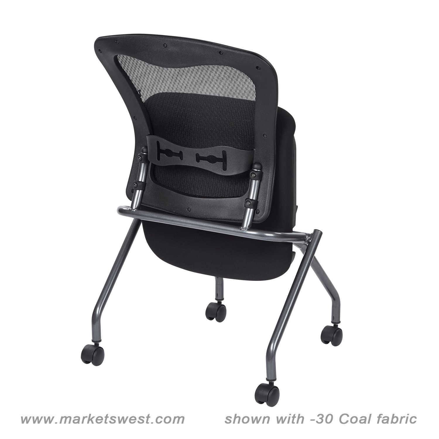 deluxe folding chair with progrid back-no arms