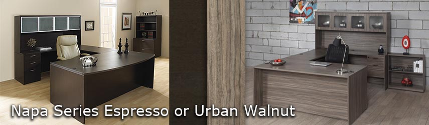Napa Espresso Urban Walnut Markets West Office Furniture