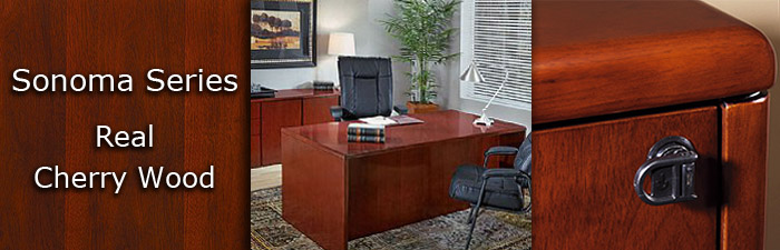 Sonoma Series Real Cherry Wood Markets West Office