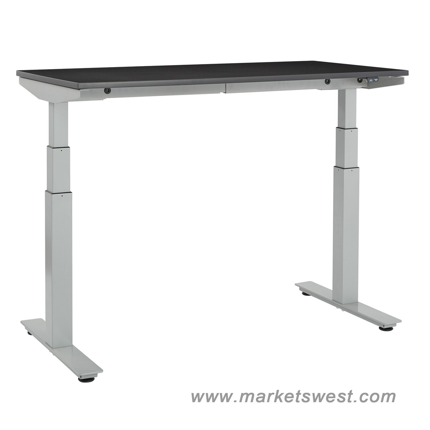 Ascend electric adjustable height table desk with 24 x 48 for Motorized adjustable height desk