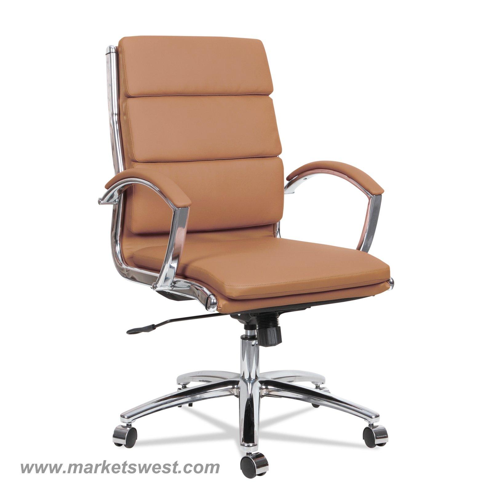Neratoli Mid Back Swivel Tilt Chair Camel Soft Touch