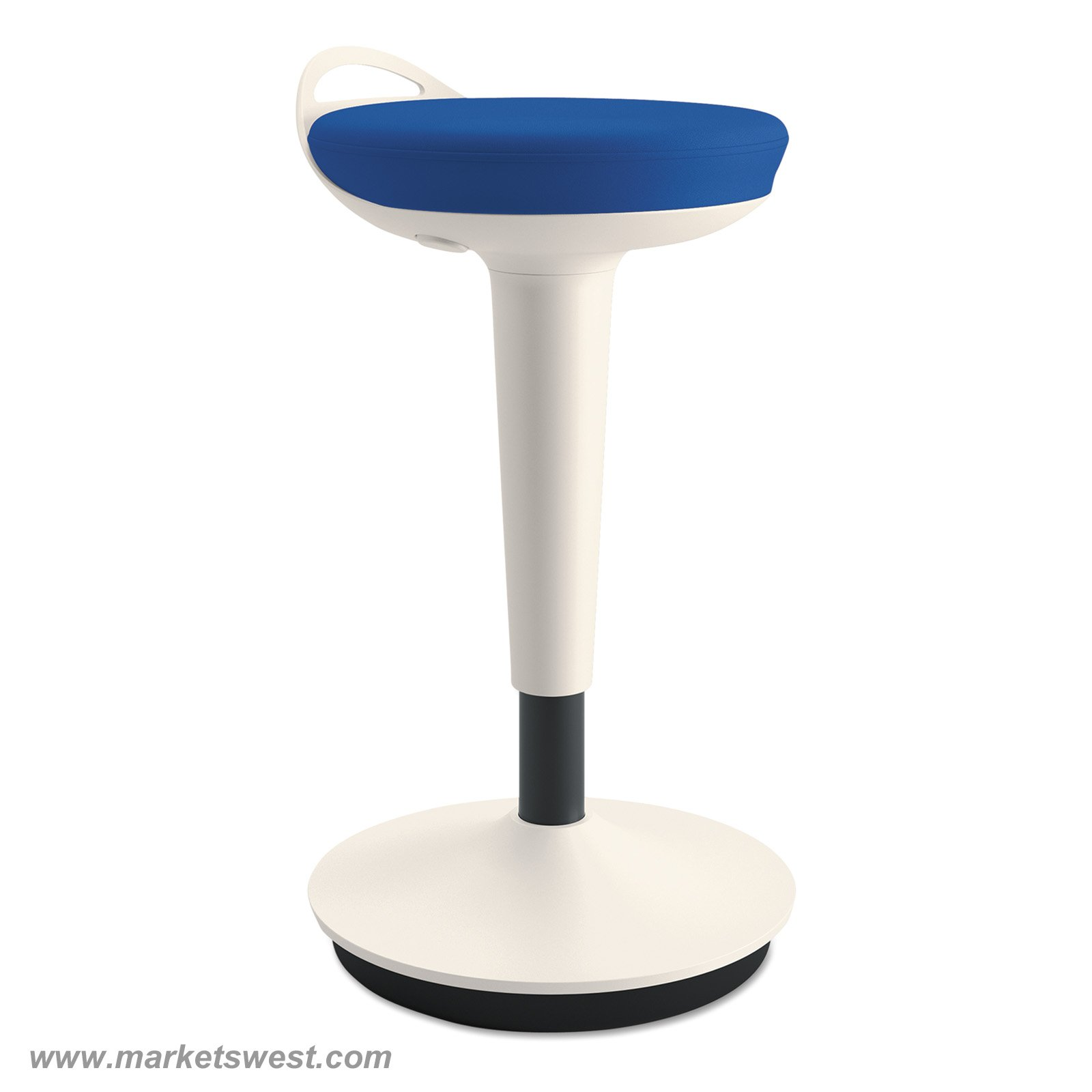 Balance Perch Sit Stand Stool With White Base