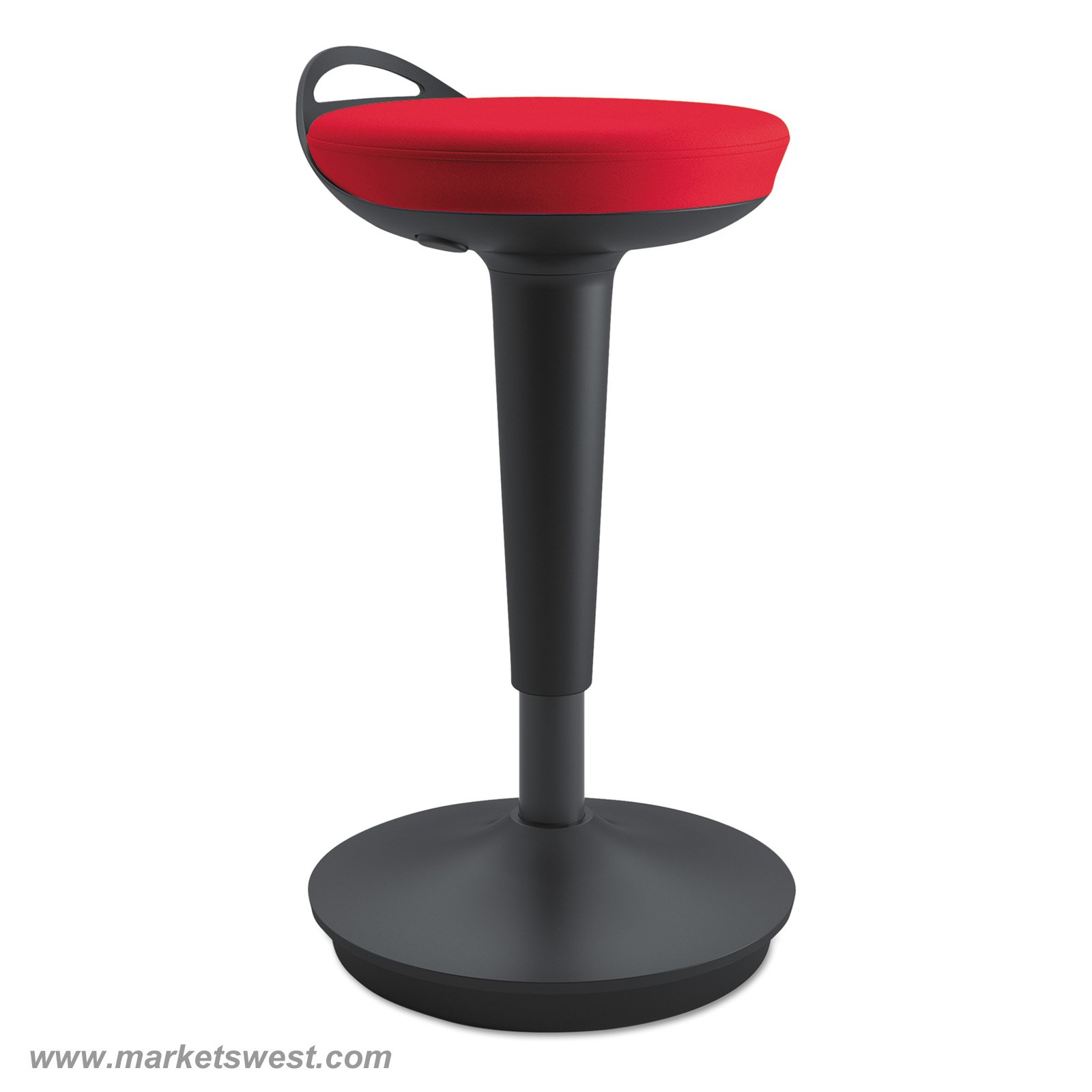 Balance Perch Sit Stand Stool With Black Base
