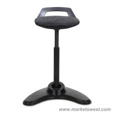 Perch Series Sit Stand Stool With Black Base
