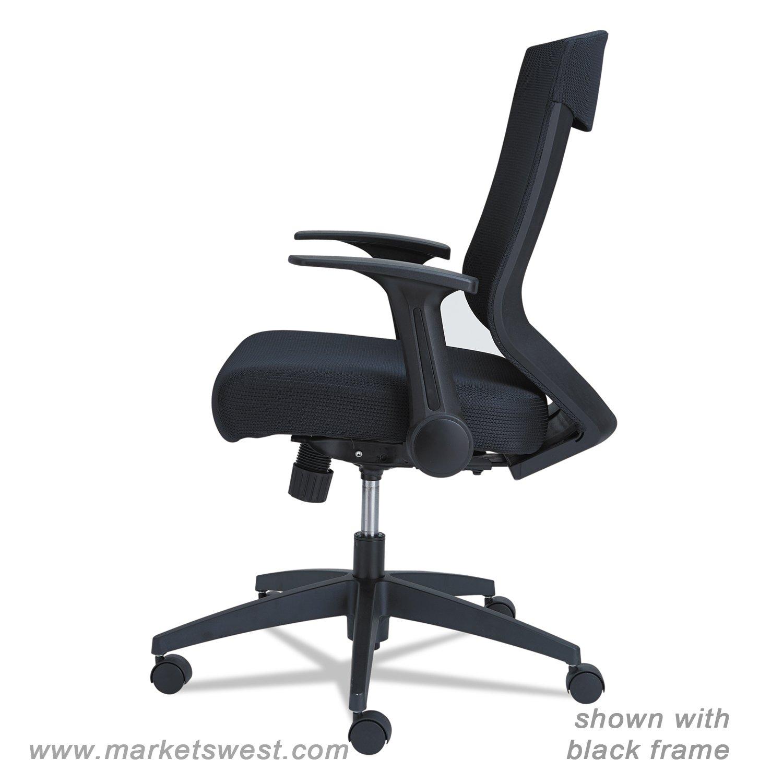 alera eb k series synchro mid back flip arm mesh chair black cool