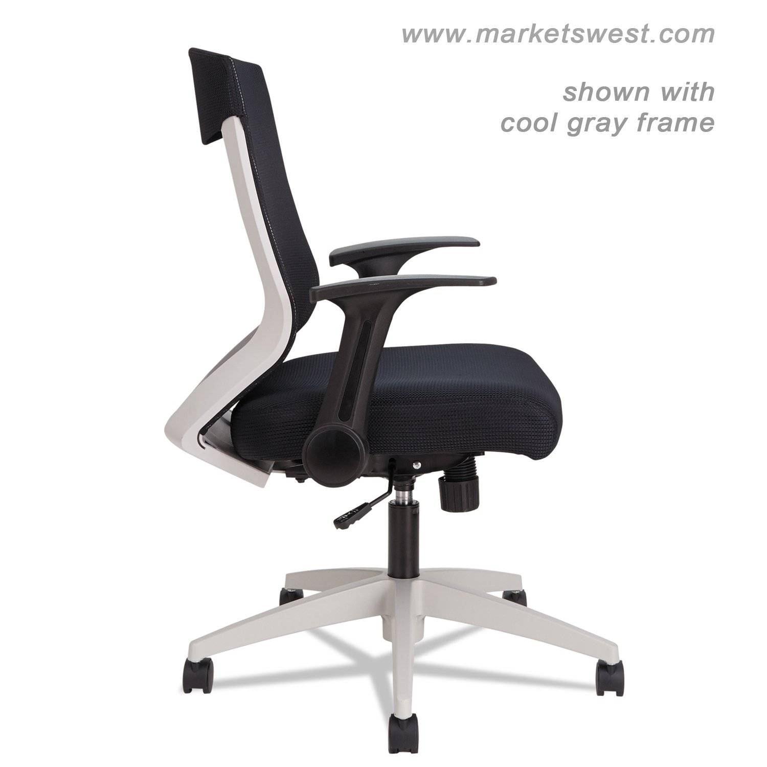 cool gray office furniture. alera ebk series synchro midback fliparm mesh chair blackcool gray frame