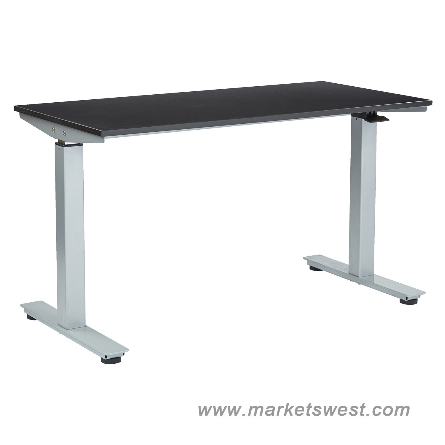 Pneumatic Adjustable Height TableDesk with 36 x 72