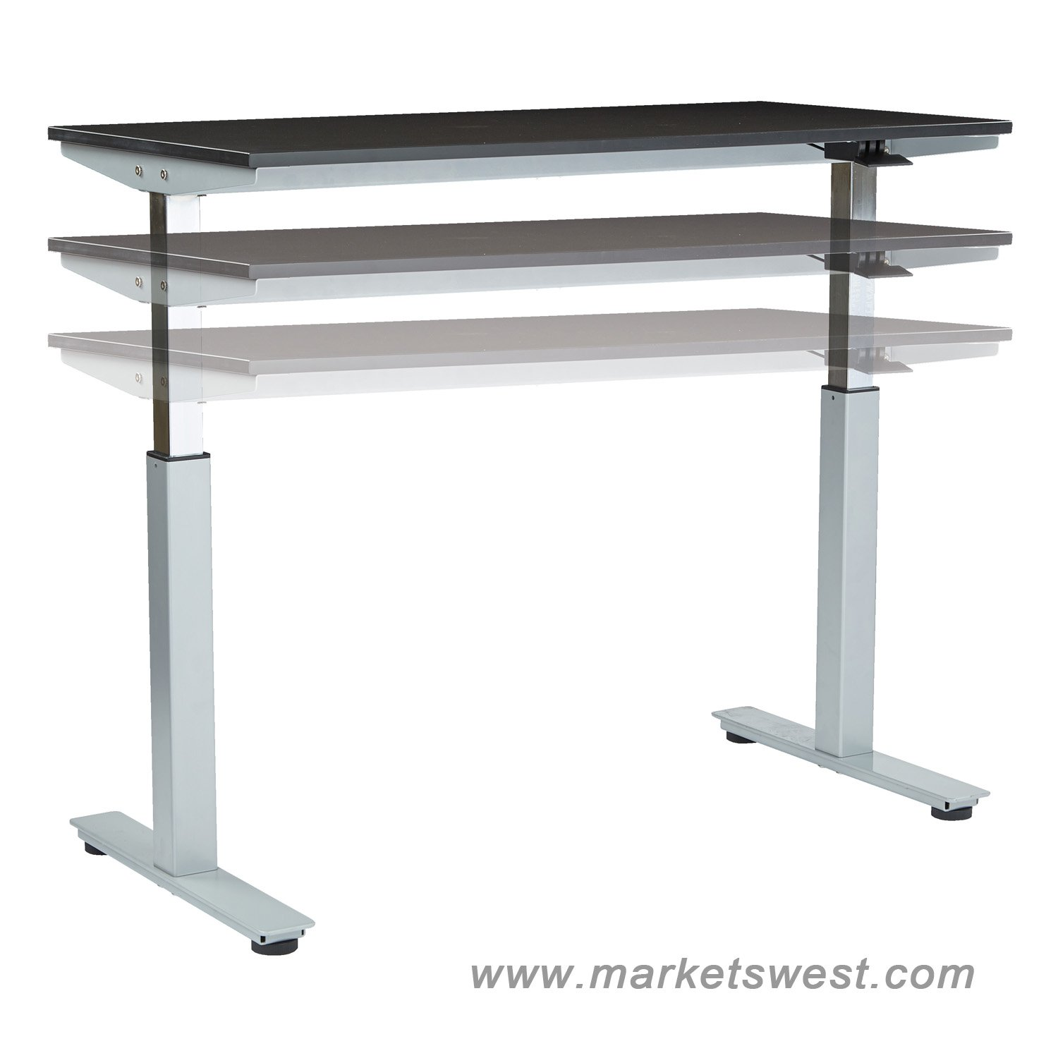 "Ascend Electric Adjustable Height Table Desk with 24"" x 60"