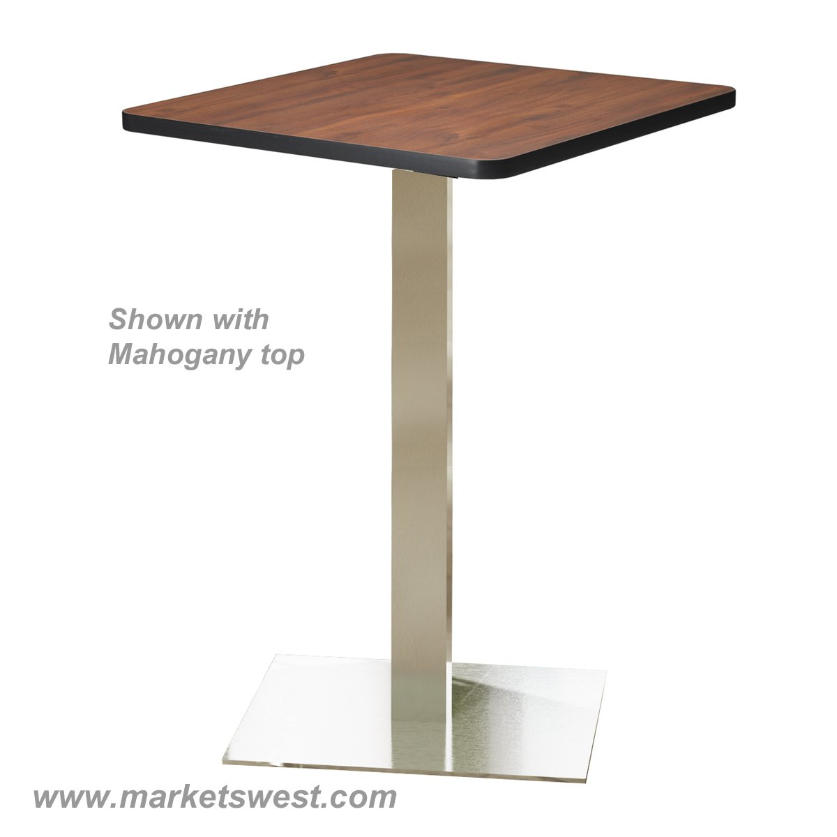 Bistro table bar height square top 36 for 12 bar blues table