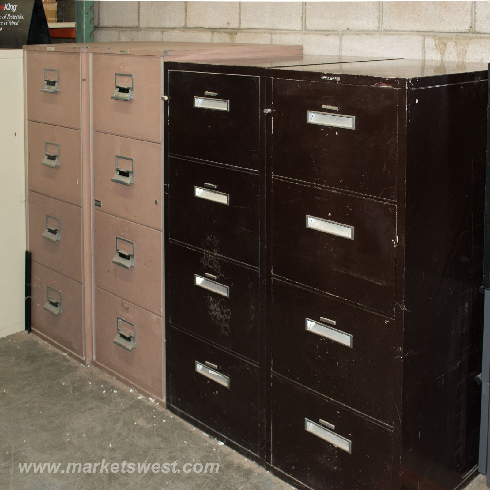 4 Drawer Legal Size Fireproof File Cabinets Pre Owned