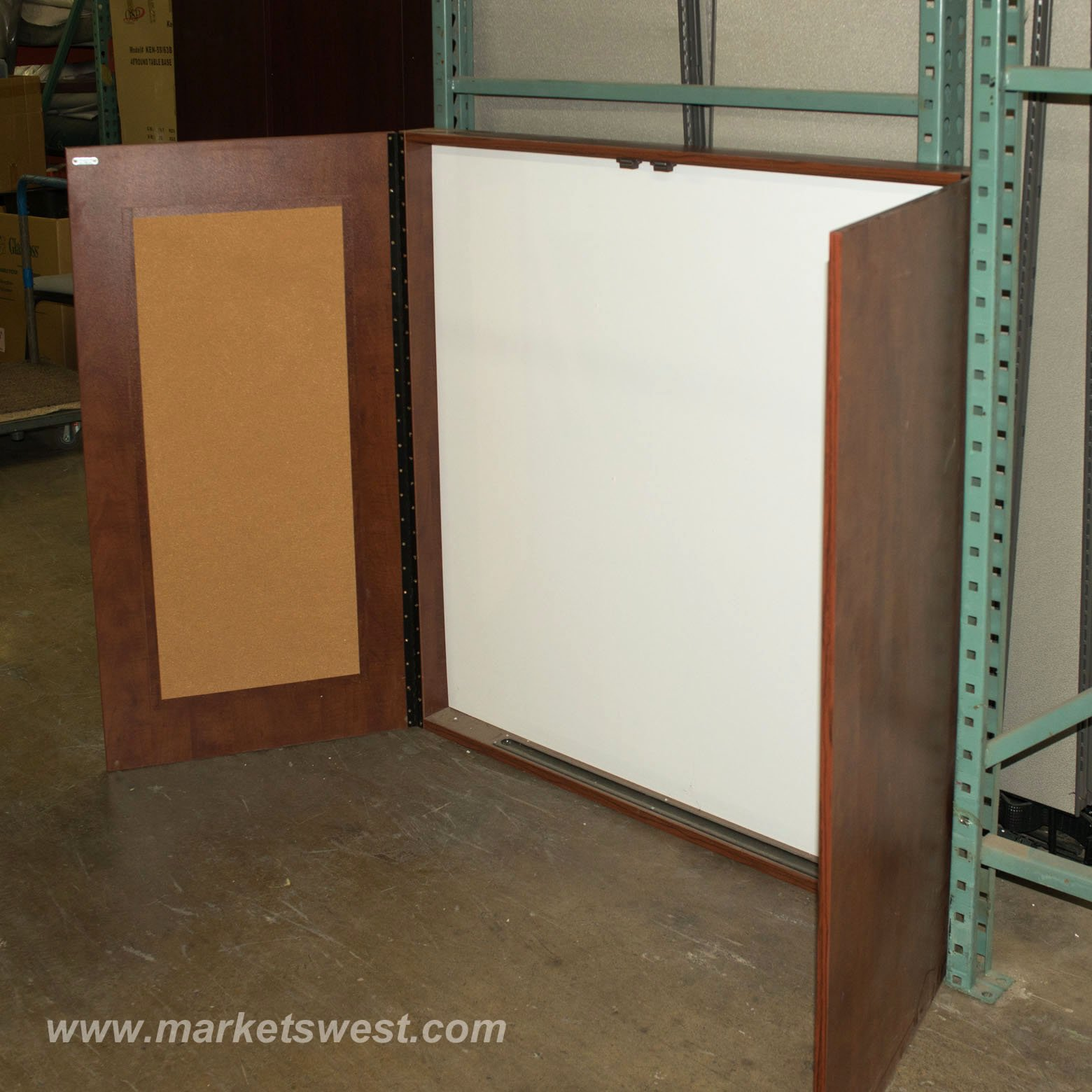 Mahogany Visual Presentation Board Used