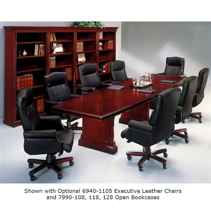 Keswick English Cherry Boat Top Conference Table - Cherry conference room table