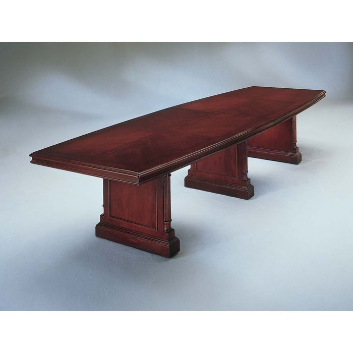 Keswick English Cherry Boat Top Conference Table - 14 foot conference room table