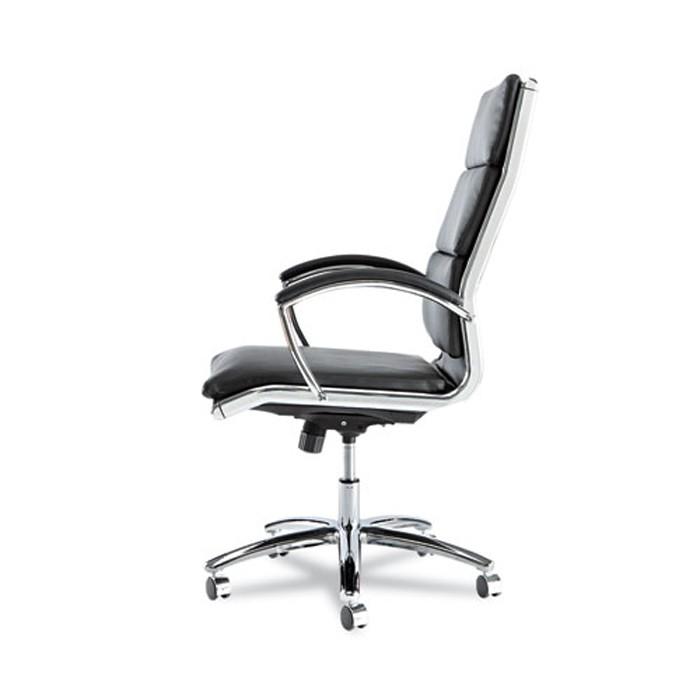 neratoli high back swivel tilt chair black soft touch leather