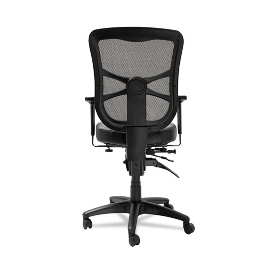 Elusion Mesh Mid Back Multifunction Chair Black Leather
