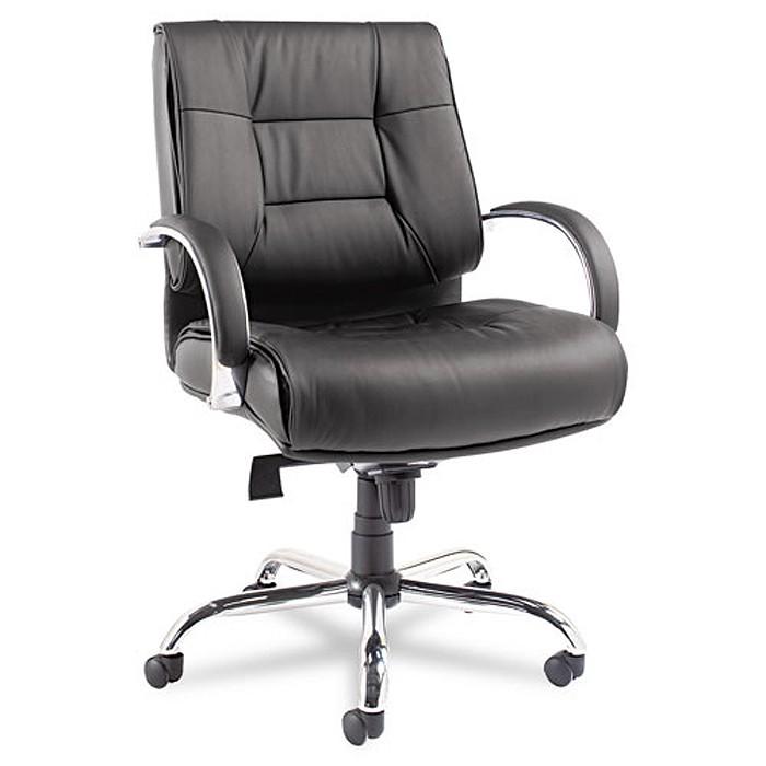 ravino mid back big tall black leather chair