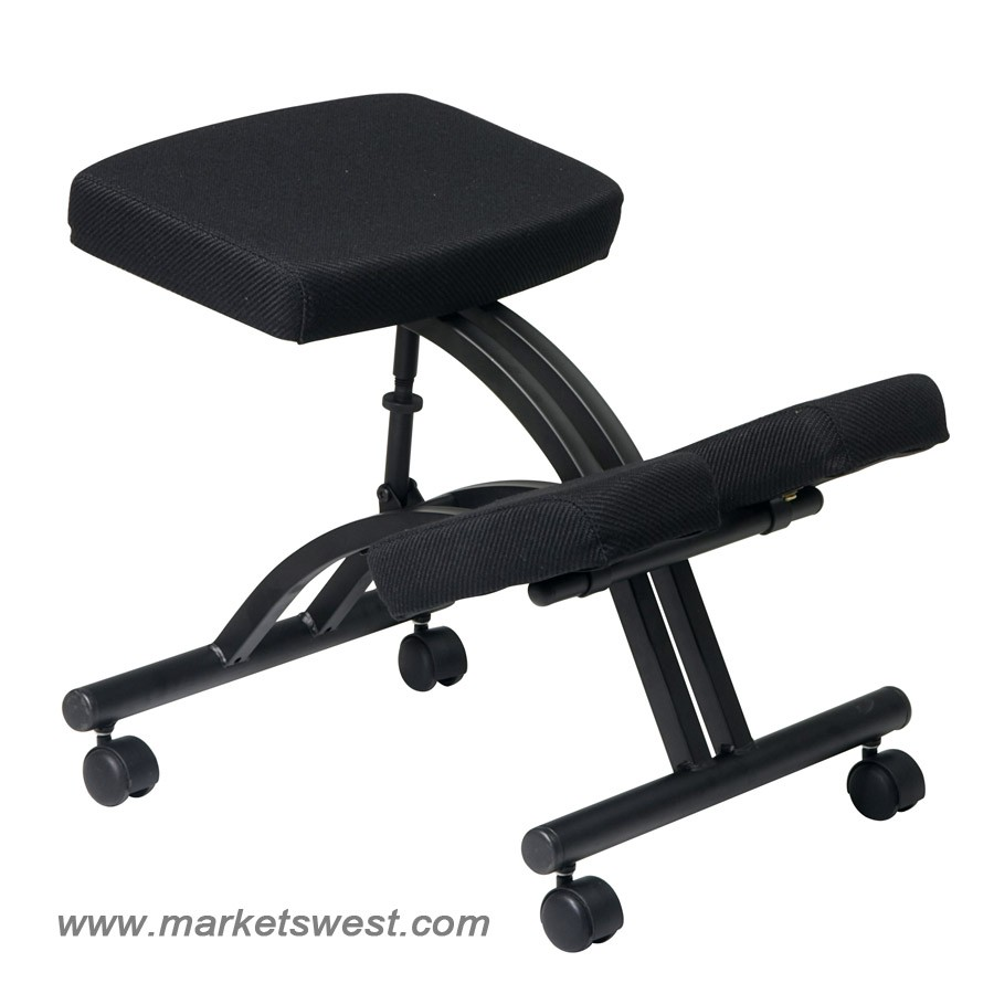 ergonomically designed knee chair with casters
