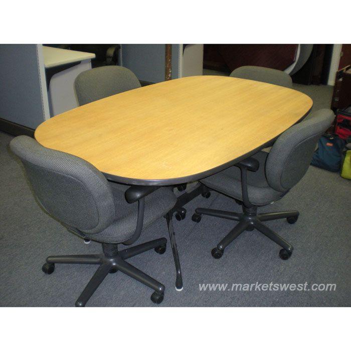 Oval Herman Miller Eames MeetingConference Table Chairs - Eames oval conference table