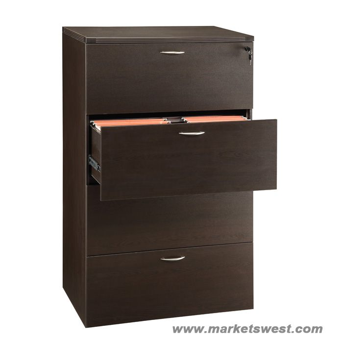 sc 1 st  Markets West Office Furniture & 4-Drawer Lateral File 36x22x56 Espresso