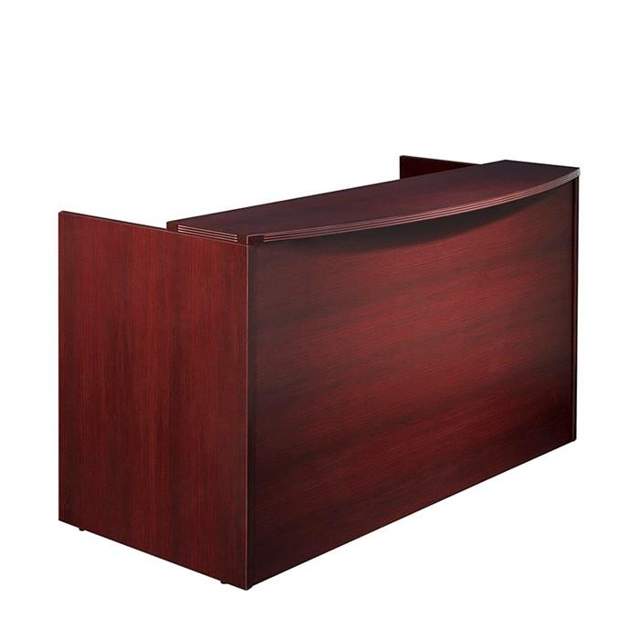 Reception Desk Shell 72x36x42 Cherry Mahogany