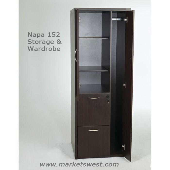 Storage Cabinet W Wardrobe Espresso Or Urban Walnut Finish