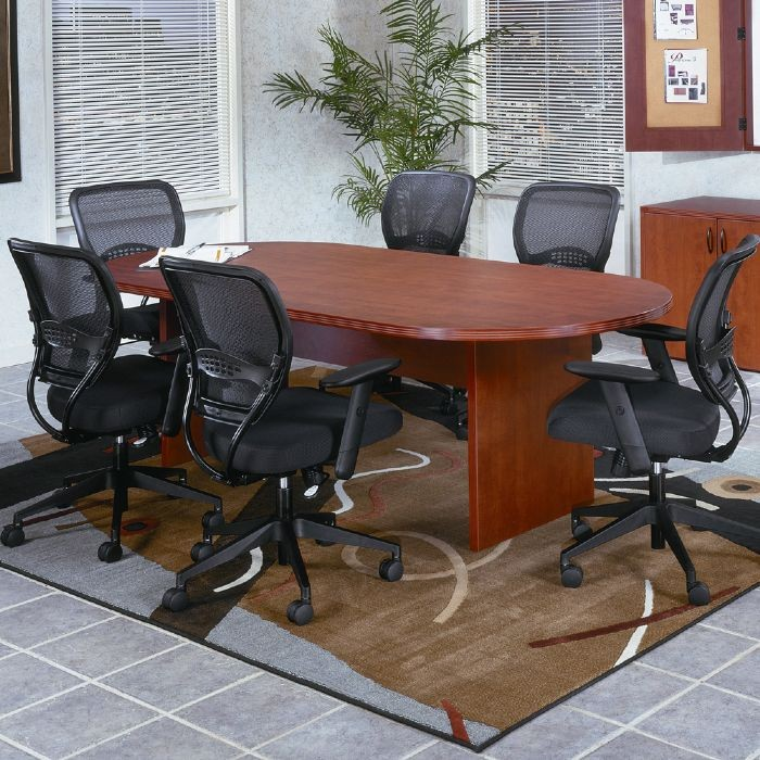 Ft X In Racetrack Conference Table Cherry Or Mahogany - 36 conference table