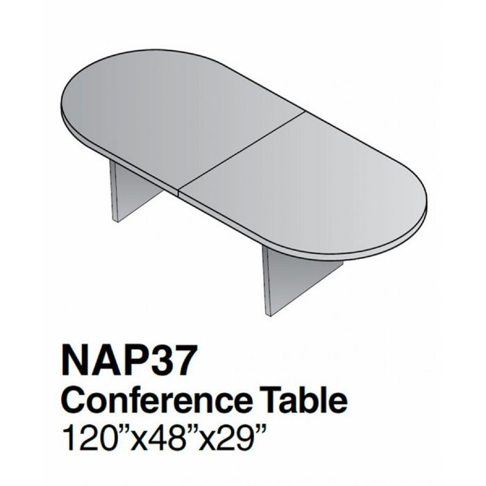 10ft x 4ft racetrack conference table espresso for 10 foot conference table