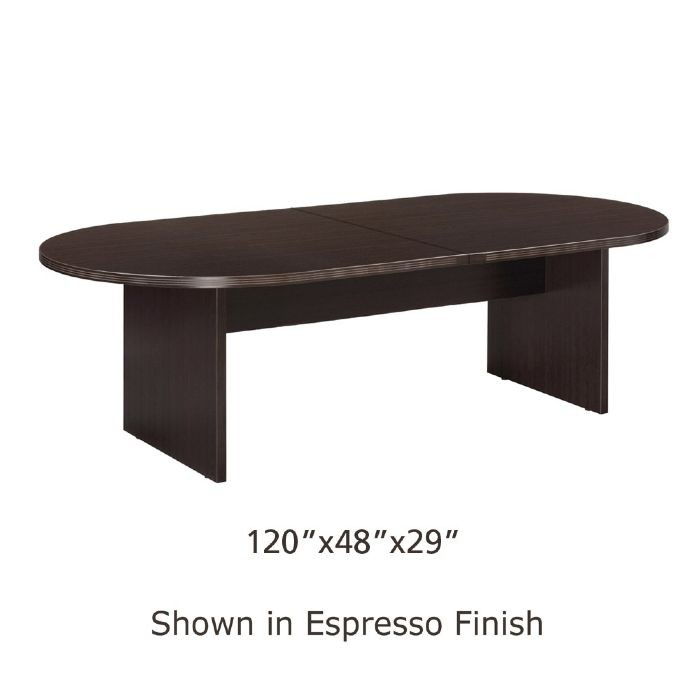 Ft X Ft Racetrack Conference Table Espresso - Grey conference table