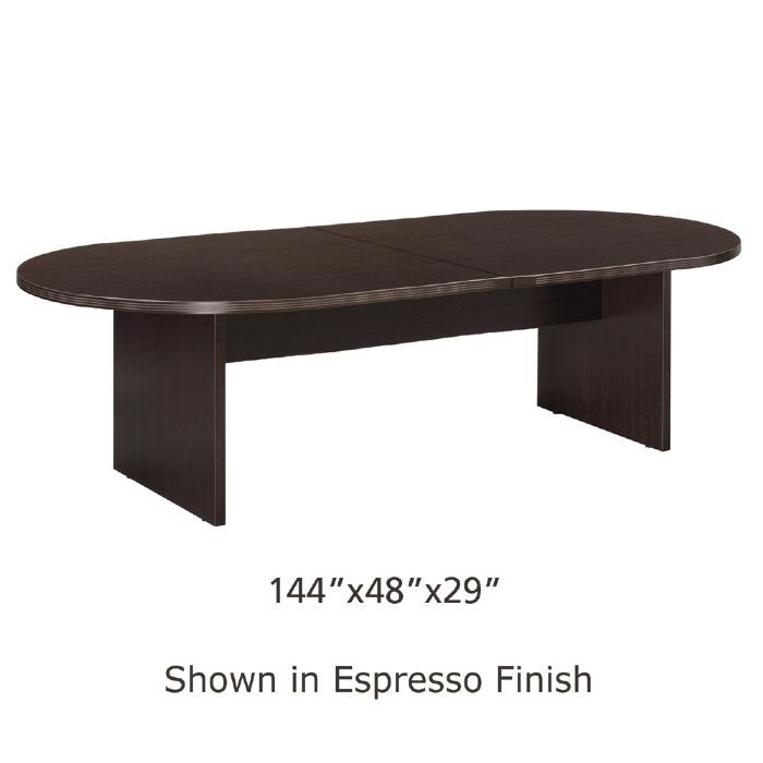 12ft x 4ft racetrack conference table espresso for 12 ft conference table