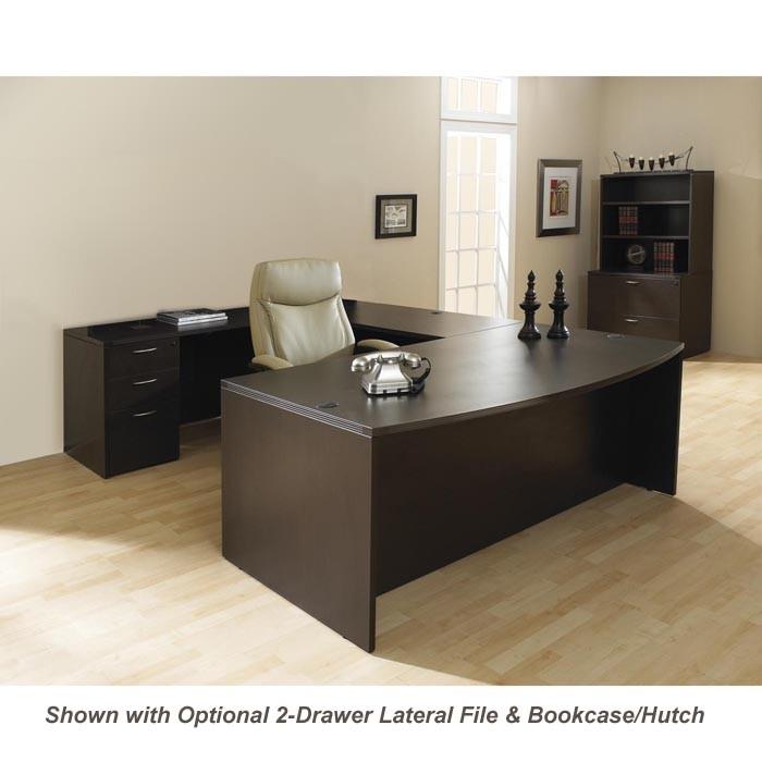 u shape office desk suite w/hutch 72inch x 113inch