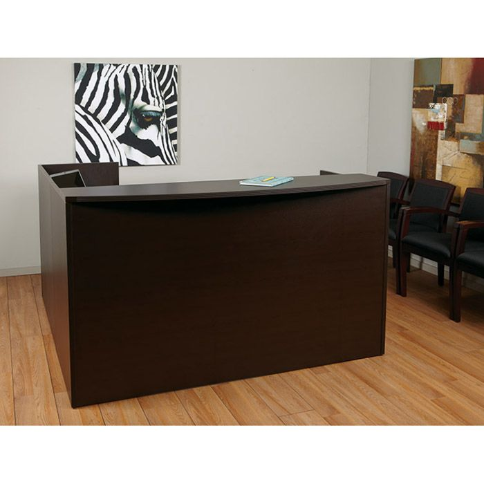 Napa Reception Station 71x71x42h No Drawers Espresso