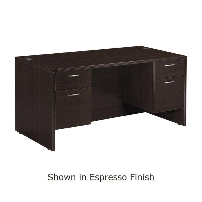 Double Pedestal Desk 60 Quot X30 Quot Espresso Or Urban Walnut Finish