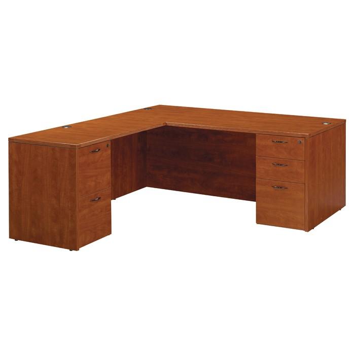 Shape desk 66x78 cherry or mahogany