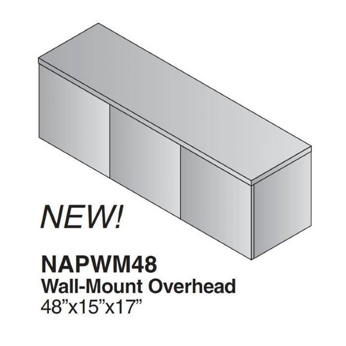 48 Inch 3 Door Wall Mount Overhead Storage Cabiinet