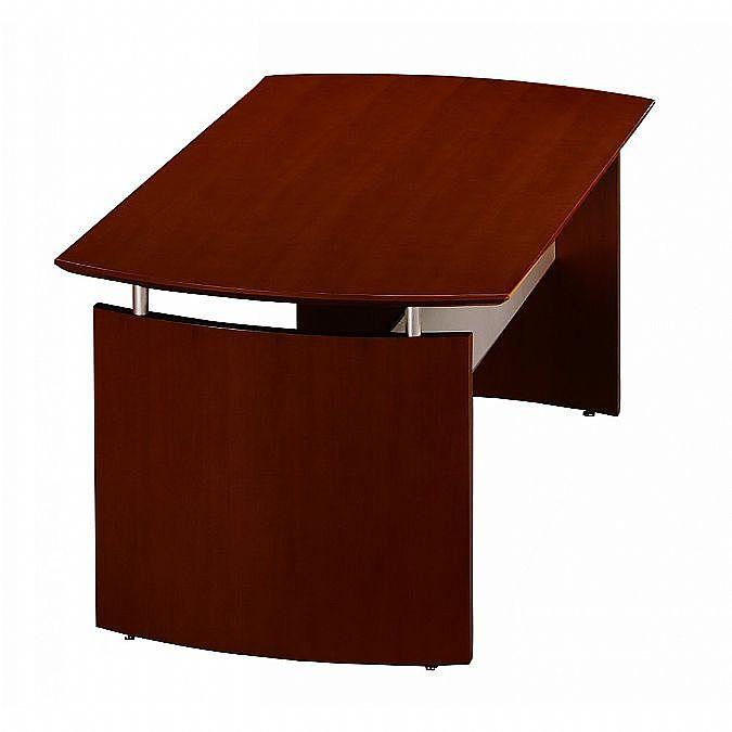 Napoli Inch Wood Veneer Desk - Wood veneer conference table