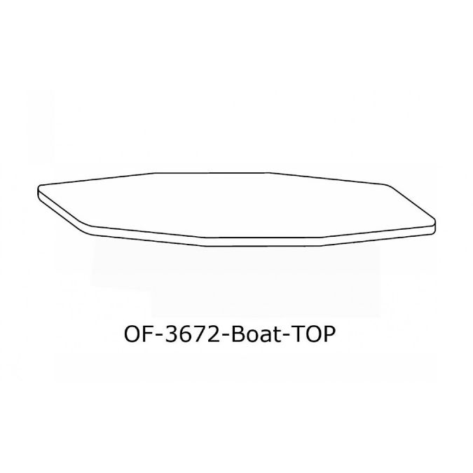 OFFICE Boat Shape Conference Table Top Inch X Inch - 36 inch conference table