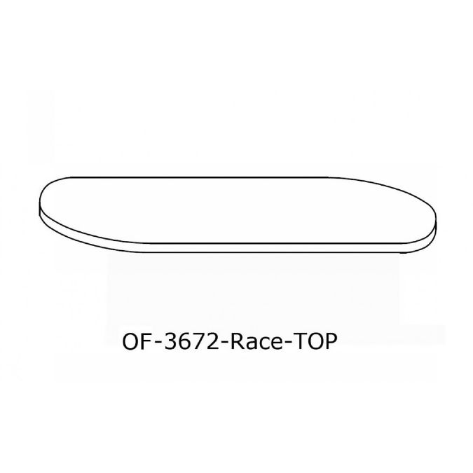 OFFICE Racetrack Conference Table Top Inch X Inch - 72 inch conference table