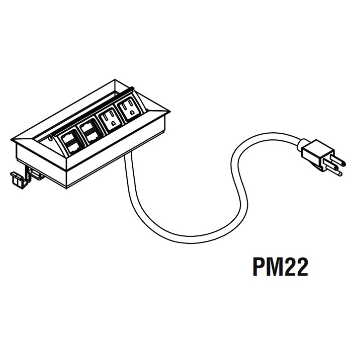 power  u0026 data module with 2 power  u0026 2 data outlets